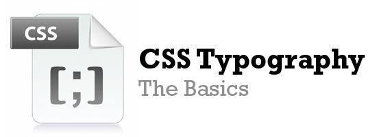 CSS Typography: The Basics