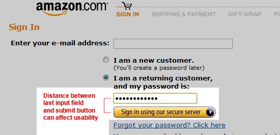 Multi-step online web form