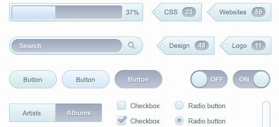 Soft UI Kit: Free PSD for Mocking Up Web Designs