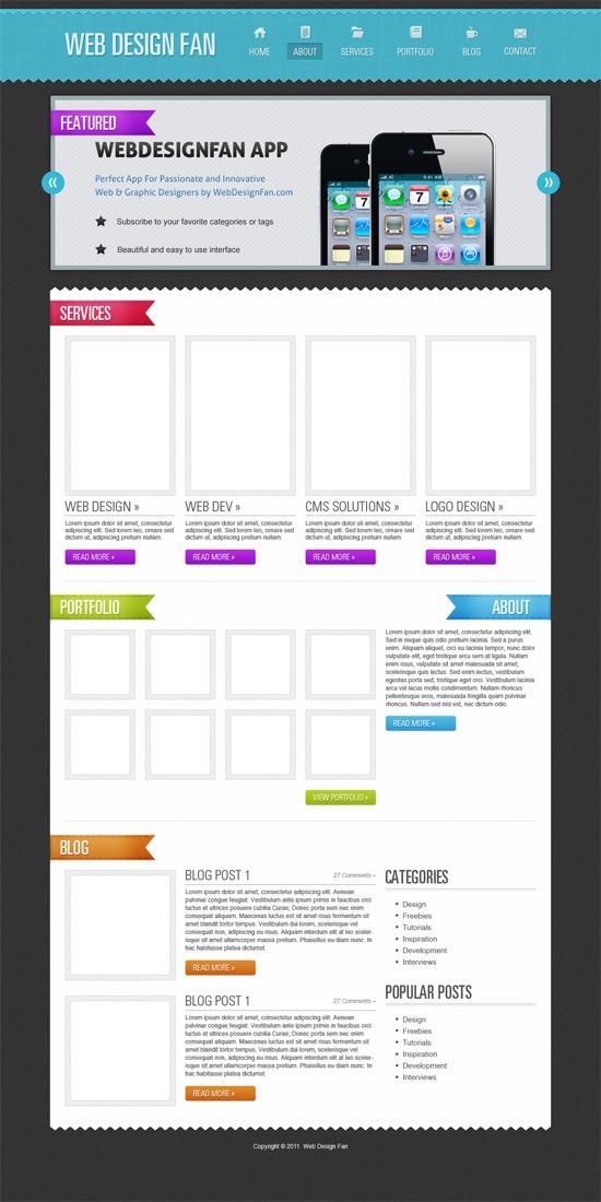 Create a Portfolio Web Layout in Photoshop