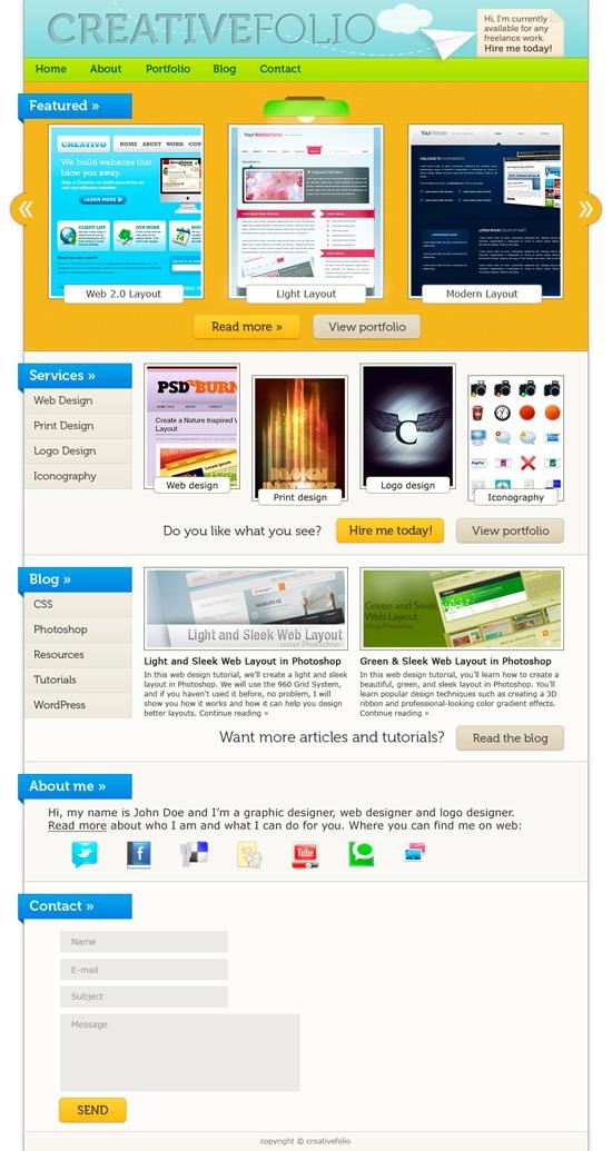How to Make a Vibrant Portfolio Web Design in Photoshop