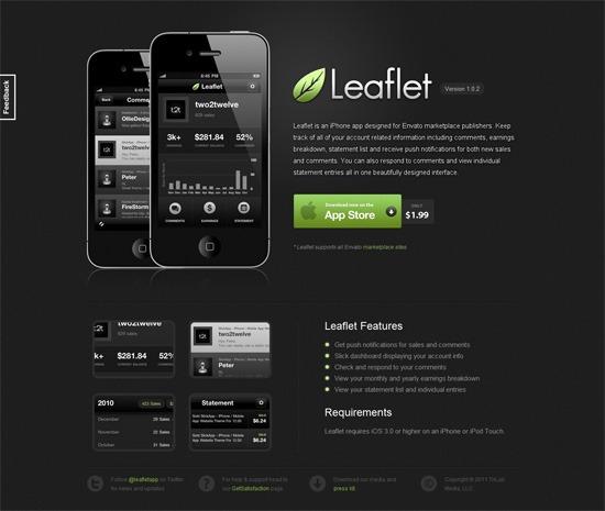 Design a Sleek Mobile App Website