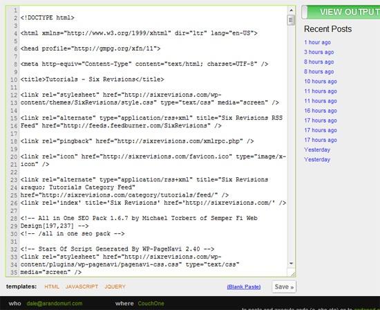 Pastebin.me sandbox tool