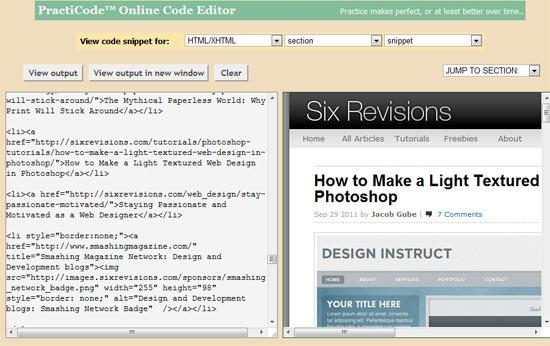 PractiCode sandbox tool