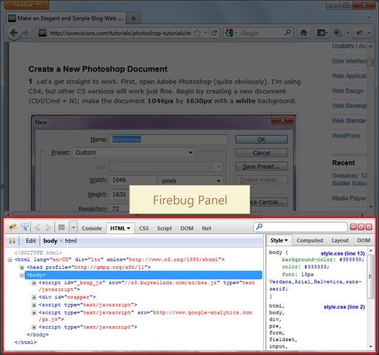 Firebug Guide For Web Designers Webfx