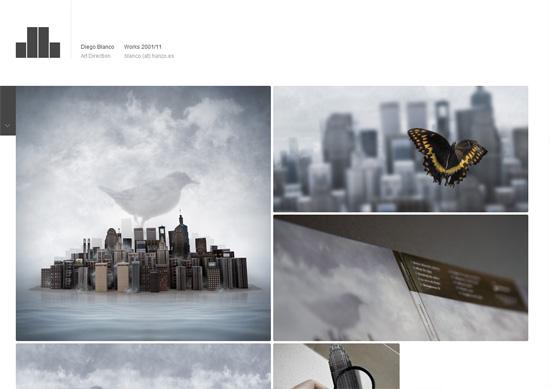 Minimalist portfolio website design example: DB Works