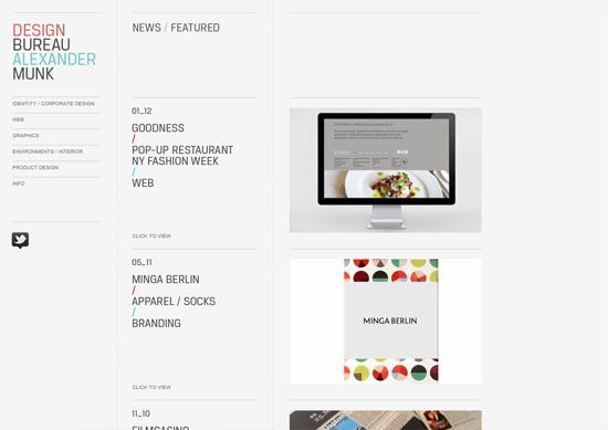 Minimalist portfolio website design example: Alexander Munk