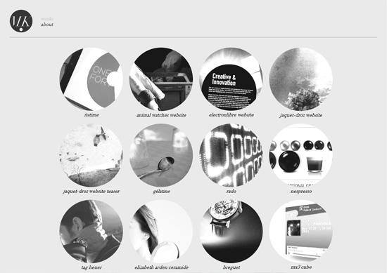 Minimalist portfolio website design example: Mickaël Larchevêque
