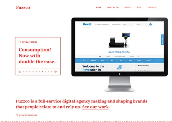 Minimalist portfolio website design example: Fuzzco