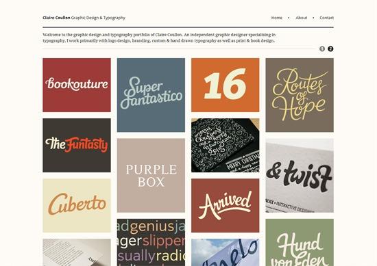 Minimalist portfolio website design example: Claire Coullon
