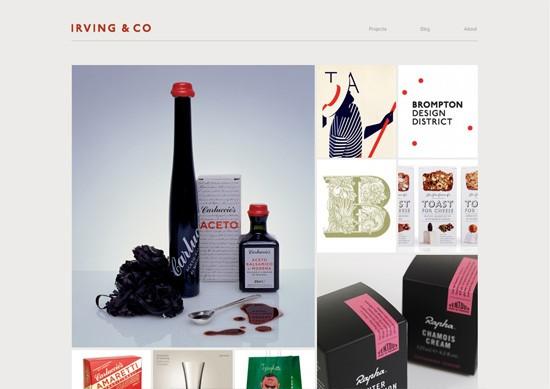 Minimalist portfolio website design example: Irving & Co