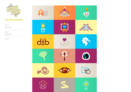 minimalist portfolio website design example ignacio macri - Graphic Design Portfolio Ideas