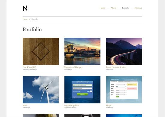Minimalist portfolio website design example: Nemeth Interactive