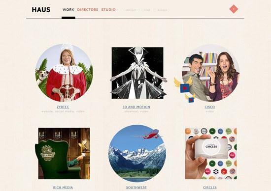 Minimalist portfolio website design example: HAUS