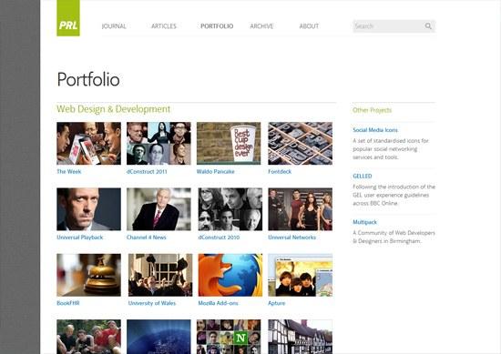 Minimalist portfolio website design example: Paul Robert Lloyd