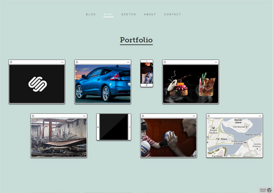 Minimalist portfolio website design example: Kenneth Cachia