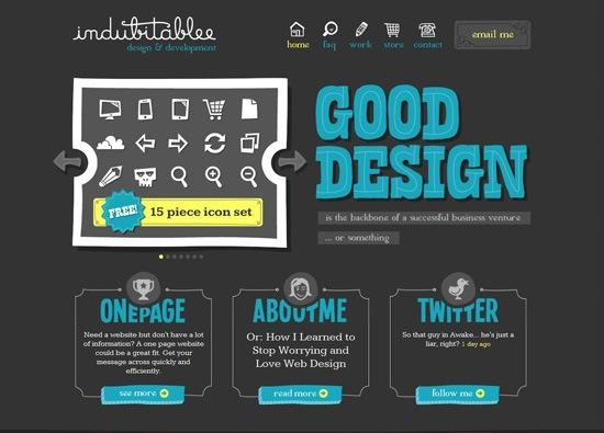 Dark website design example: Denise Chandler