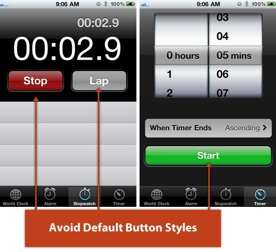 Default Button Styles