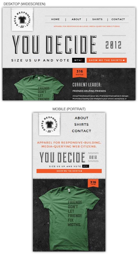 Responsive web design example: Dress Responsively, LTD