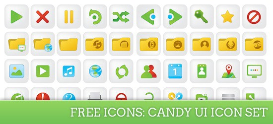 Free Icons: Candy UI Icon Set