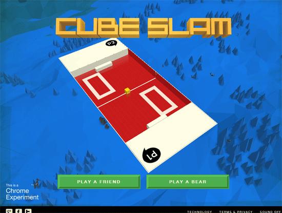 Google's Cubeslam - a demo of WebRTC