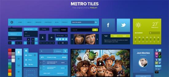 Free Download: Metro Tiles UI Kit (PSD)