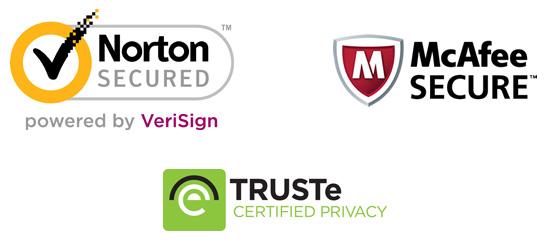 Logos of popular trust seals.