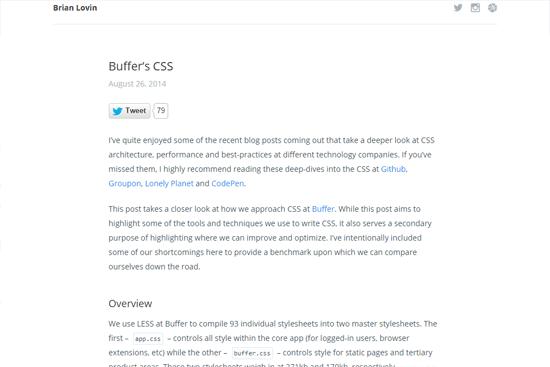 Buffer's CSS