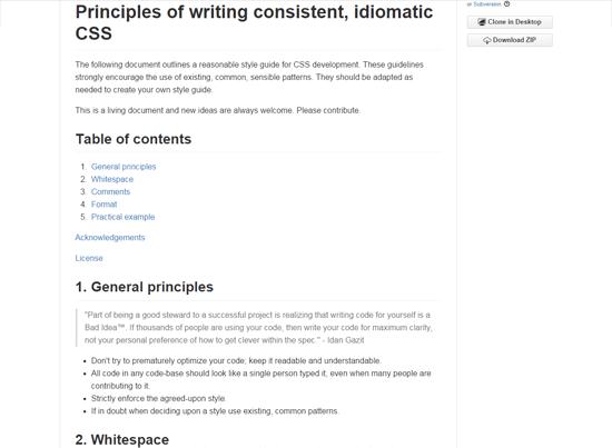 idiomatic CSS