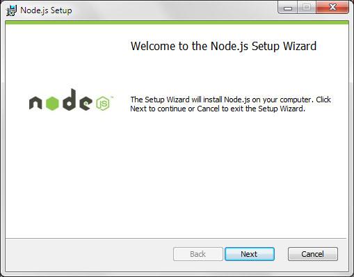 Node.js Setup wizard