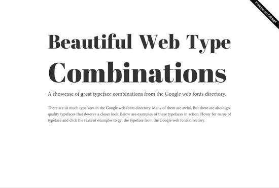 Beautiful Web Type Combinations