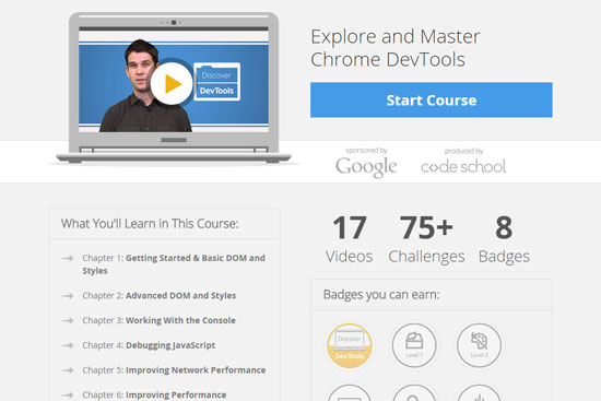 Discover DevTools online course