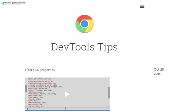DevTools Tips website