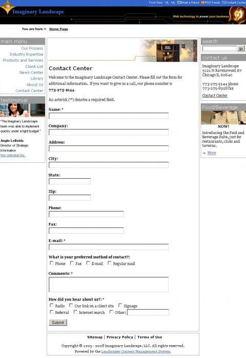 Original Contact Form