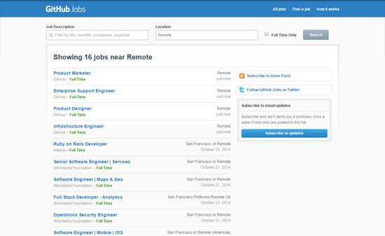 GitHub Jobs: Remote Listings