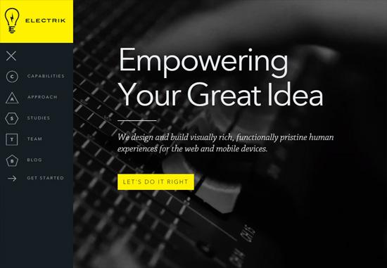 Dark web design: Electrik Company