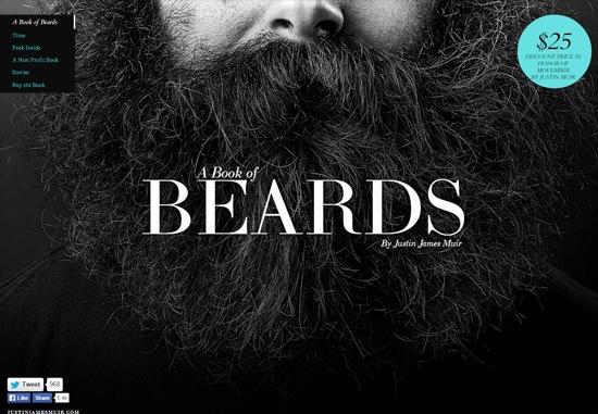 Dark web design: A Book of Beards