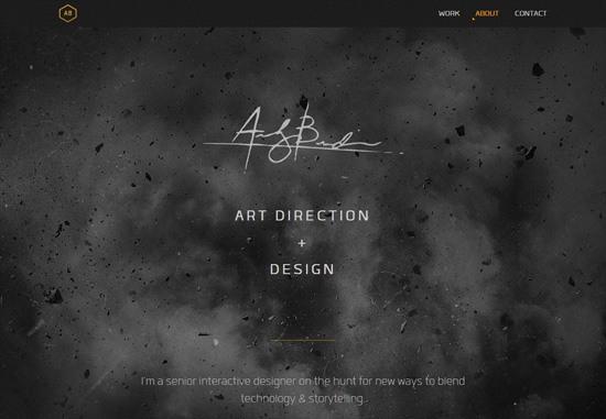 Dark web design: Andrew Burdin