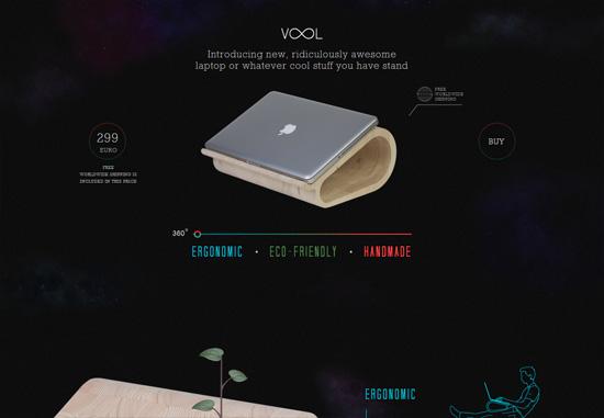 Dark web design: Vool