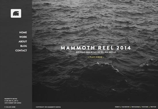 Dark web design: Mammoth Media