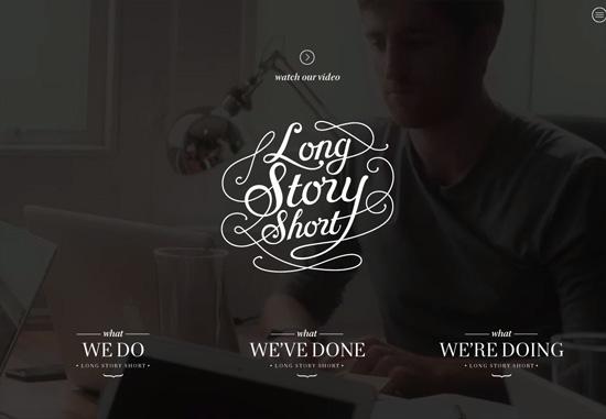 Dark web design: Long Story Short