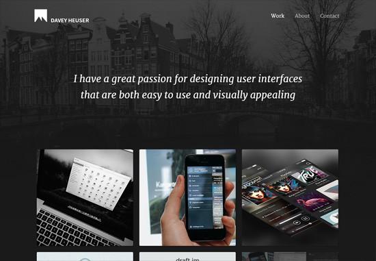 Dark web design: Davey Heuser