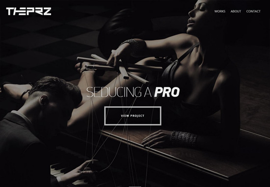 Dark web design: Vincent Przybyla's Portfolio