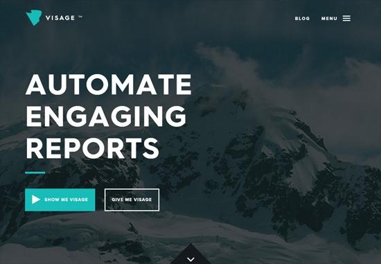 Dark web design: Visage
