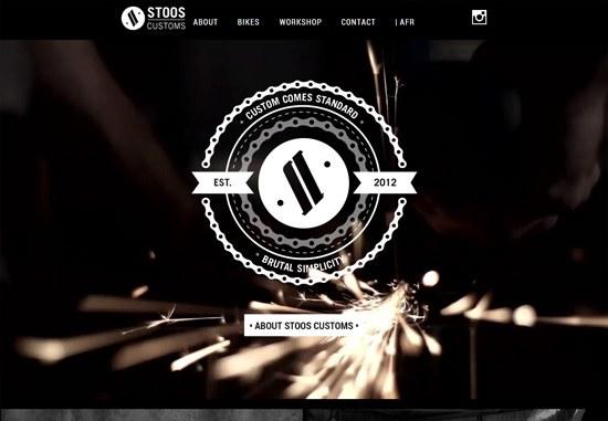 Dark web design: Stoos Customs