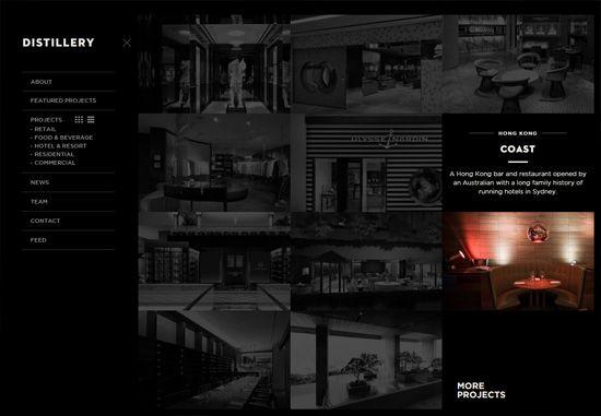 Dark web design: Distillery