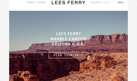 Ghost button example: Lees Ferry