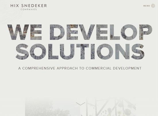 Web typography example: Hix Snedeker