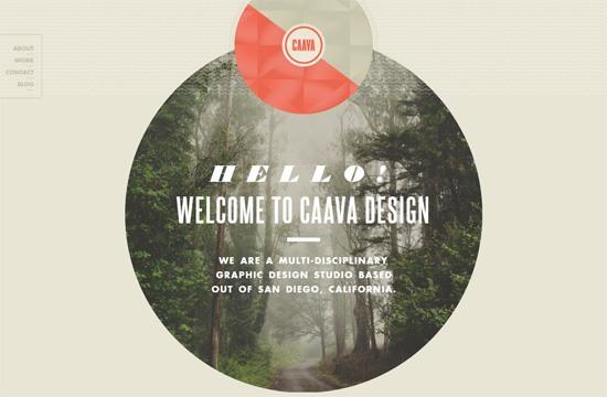 Web typography example: Caava Design