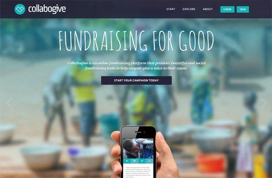 Web typography example: Collabogive